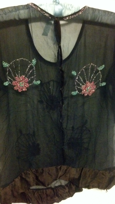 1920's blouse from the back