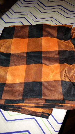 """Silk/cotton voile (J. Crew) from Fabric Mart; """"Lumberjack Chic,"""" am I right??"""