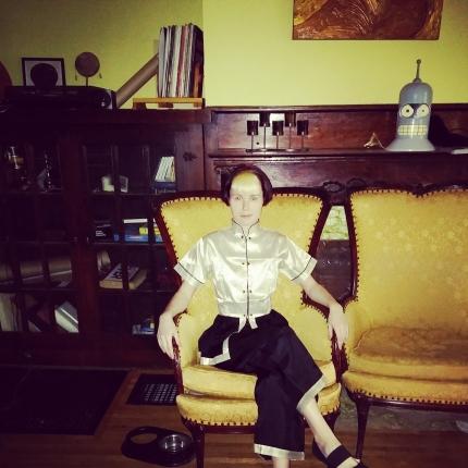 My 1950's hostess/lounging pajamas!