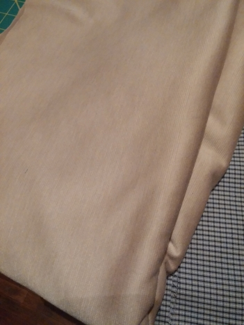 Neutral ponte knit; no plans yet really, but we'll get there!