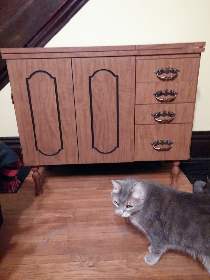 New (to me) sewing cabinet!