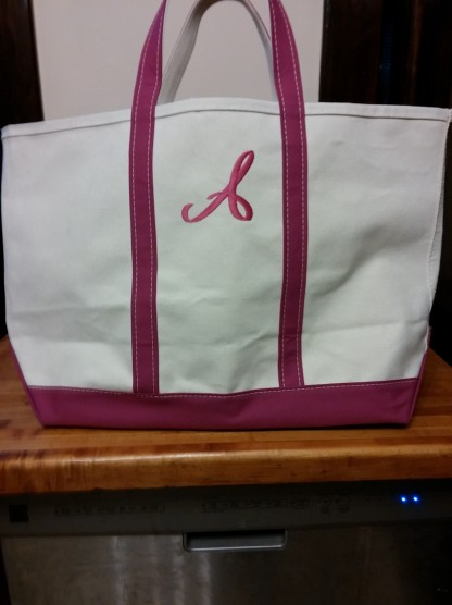 Fancy-pants bag, ready for class!