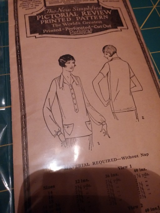 1920's blouse--this will be fun!!