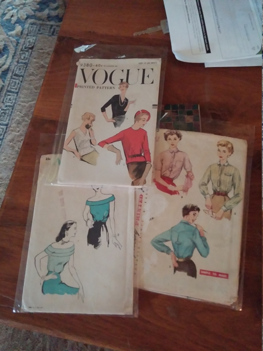 3 new vintage top patterns!
