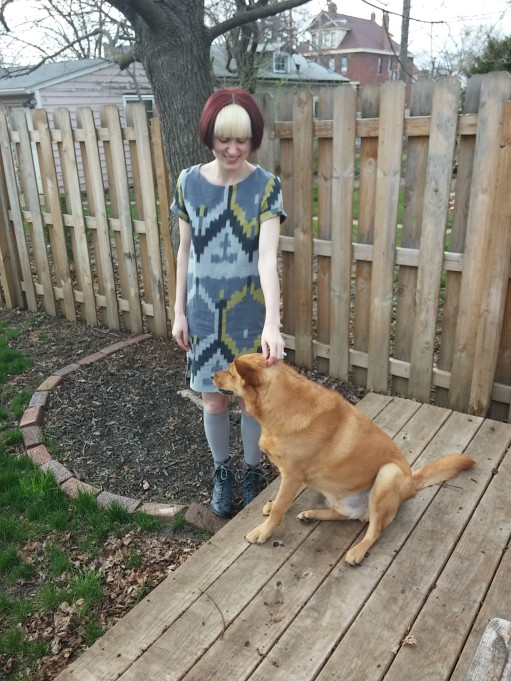 Headpats for puppy!