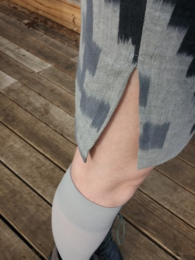 Split hem: Outside