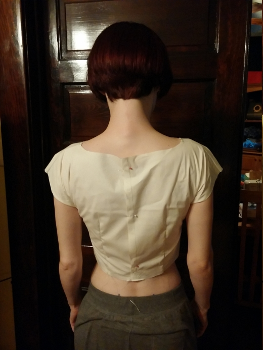 Anna bodice 1.0, back view