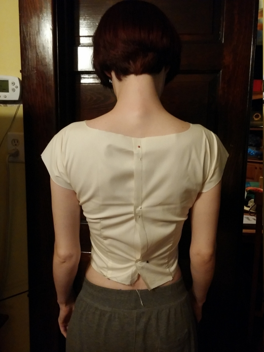 Anna bodice 2.0, back view; definite improvement, I think