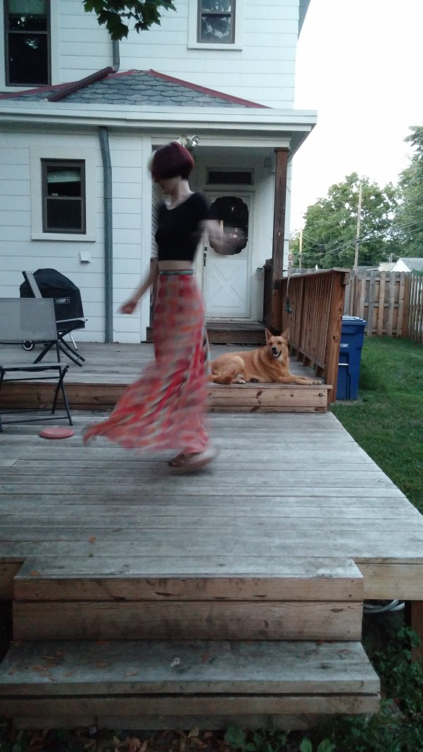 Gotta have a twirl photo...