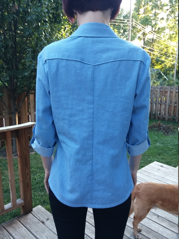 Back view; how about that curved yoke??? <3