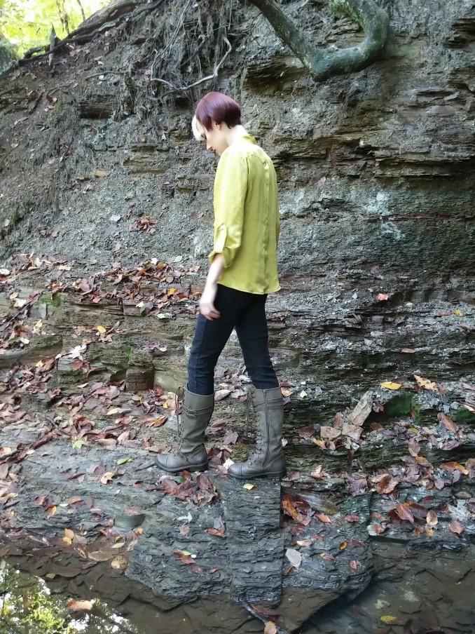 Pensive walking
