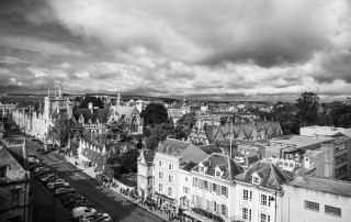A view of Oxford from the theater tower