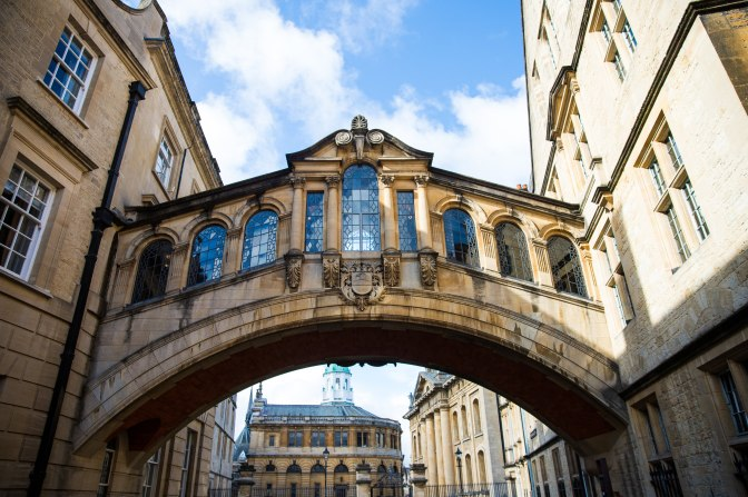 Fancy arch, with the Sheldonian in the background