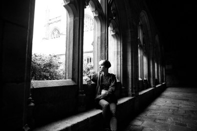 Moody photo in the cloisters