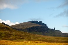 Same meadow, but you can see The Old Man of Storr in the back!!