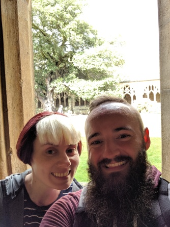 Couple's selfie in the cloisters