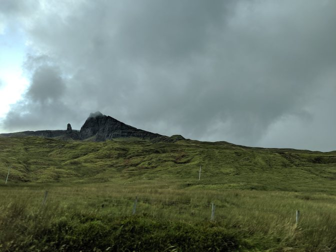 Old Man of Storr as we headed past it toward Staffin/Uige